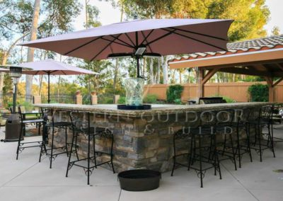 Custom Outdoor BBQ Islands 27