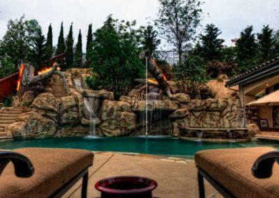 Custom Rockscape Pool Builders 7