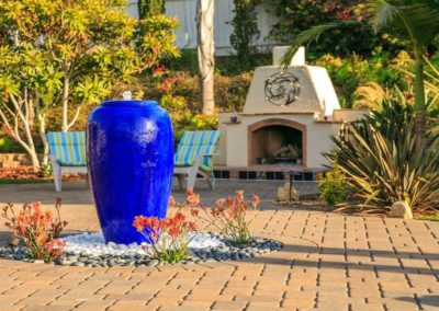 patio urn water fountain feature installers 2