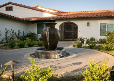 patio urn water fountain feature installers 6
