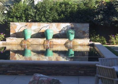 patio urn water fountain feature installers 7